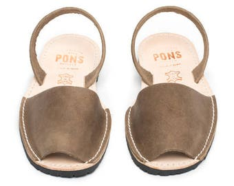 Women's taupe sandals