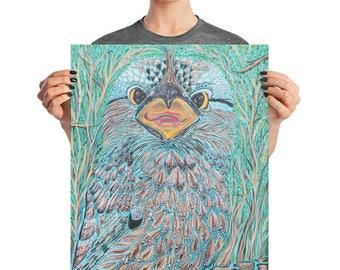 Australian Bird / Wall Art / Acrylic Painting / Animal Art / Tawny Frogmouth