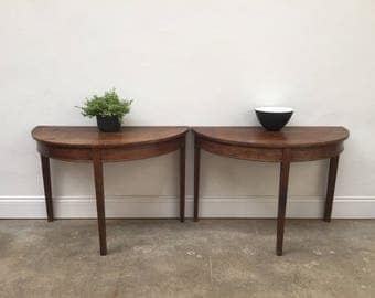 Demi lune hall way occasional tables