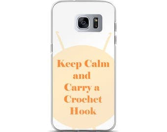 Keep Calm and Carry a Crochet Hook Samsung