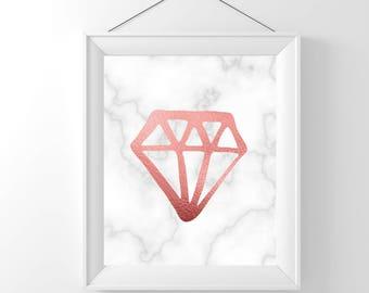 Rose Gold Art | Marble Decor | Diamond Art | Rose Gold Art Deco | Rose Gold Art Prints | Marble Art | Marble Artwork | Diamond Artwork