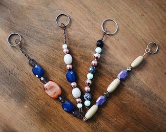 Boho Beaded Keychain