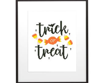 Modern Interior Cross Stitch Pattern Halloween 3 , PDF pattern ** instant download**