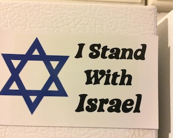 I Stand With Israel Refrigerator Magnet