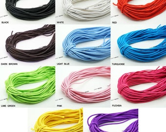 1MM Nylon Coated Round Elastic Cord Stretch Stretchable Beading Mala Craft String - 15 Yards