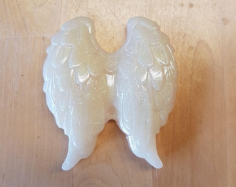Pearly white Angel Wings