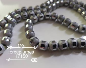 10 glass electroplate frosted 8mm beads