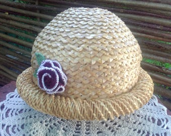 Women's straw hat.Summer Slam.For walks.Straw hat.