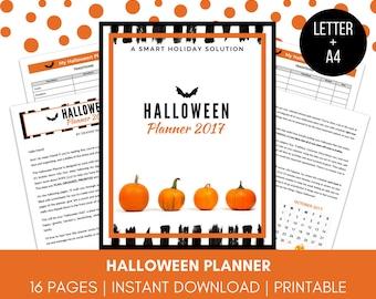 HALLOWEEN PLANNER   Halloween 2017   Halloween Printable   Halloween Organizer   Halloween Decorations Planner   Halloween A4 Planner