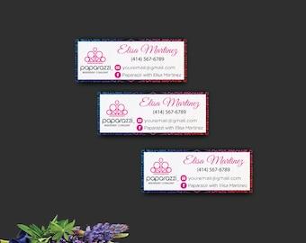 Paparazzi sticker label, Paparazzi sticker address, Paparazzi Accessories, Customized Paparazzi Card PP91