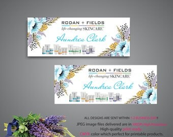 Rodan and Fields Facebook Cover, Rodan and Fields Facebook Banner, Custom RF Business, R+F PERSONALIZED, Floral Card RF RF07