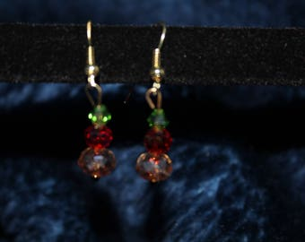 Jewel Tone Drop Earrings
