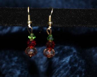 Jewel Tone Drop Earrings