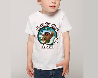 Personalized Maui of Moana Birthday Boy Tee Shirt Tshirt Iron on Transfer Image Tropical Leaves DIY Printable - Digital File