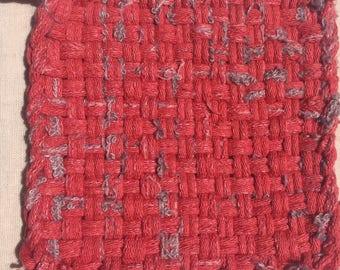 Rustic Red Potholder/Trivet