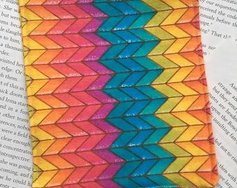 Small Bag - Warcross/Rainbow Chevron Flannel Pattern