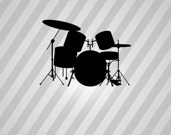 Drum kit art | Etsy