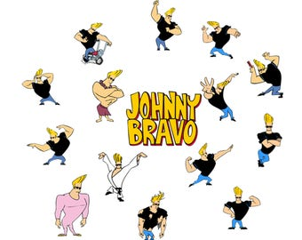 Johnny Bravo Svg/Eps/Png/Jpg/Cliparts,Printable, Silhouette and Cricut File !!!