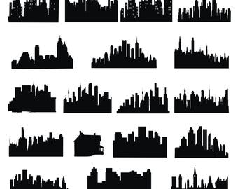 Urban skyline Svg/Eps/Png/Jpg/Cliparts,Printable, Silhouette and Cricut File !!!