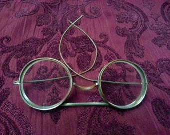 Vintage Safety Goggles Missing Mesh Shield-Motorcycle Safety Goggles-Steam Punk Goggles