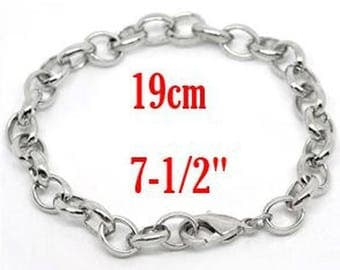 1 bracelet chain with lobster clasp 19 cm