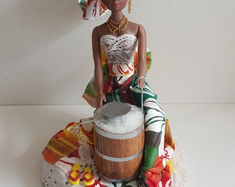 * Contact ME before ordering, not in STOCK * Caribbean coconut sorbet market doll