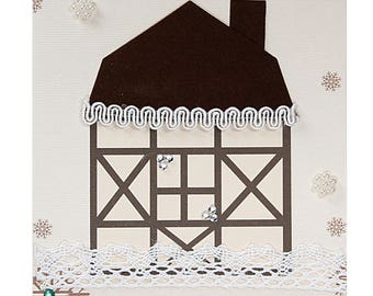 Christmas card / new year old House