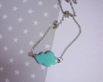 Necklace cloud blue