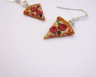 Sausage pizza earrings olives