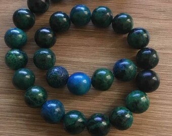 15 mm turquoise beads Rosary