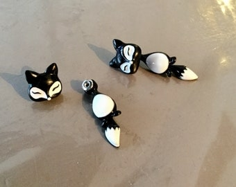Black Fox earrings