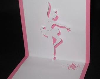 Ballerina dancer 3D card