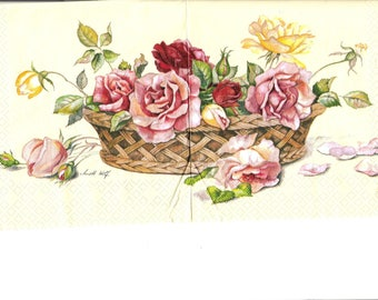Napkin basket flowers