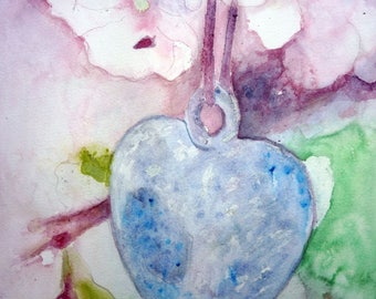 watercolor heart for all mothers of the world