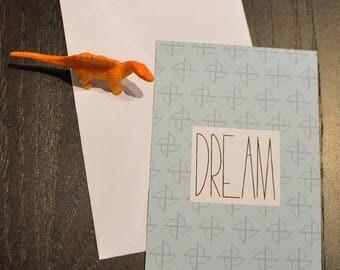 Dream pattern origami card
