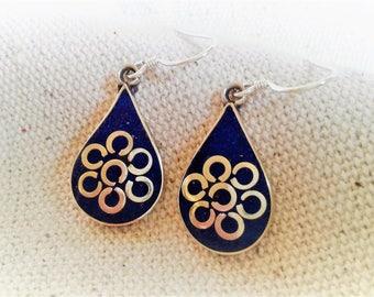 Earrings blue summer