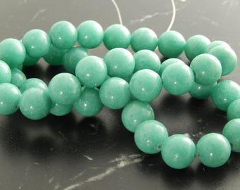 10 beads of Jade Pistache10mm, ref389