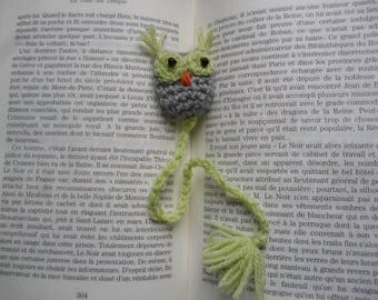 OWL bookmark crocheted by hand and tassel