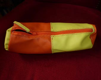 Kit for pens leather Sheepskin yellow and orange