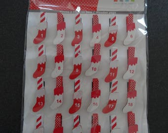 24 figures - advent calendar mini socks - darts - artemio