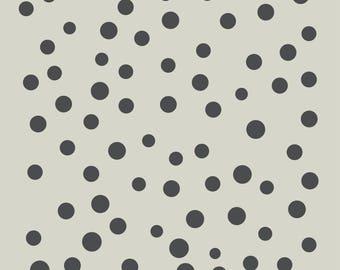 Polka dots. Points. Polka dot stencil. Adhesive vinyl stencil. (ref 229)
