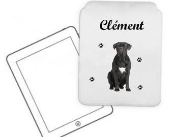 Tablet pc case Cane corso personalized with name