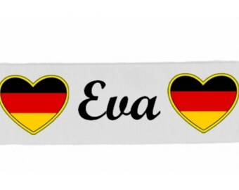 White girl Germany customized with name banner