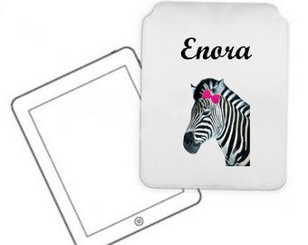 Cover for tablet pc Zebra personalized with name