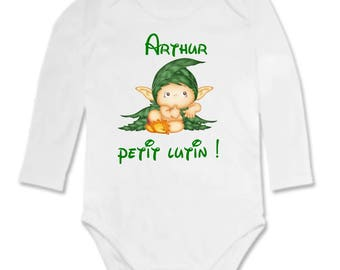 Little Elf personalized with name Bodysuit