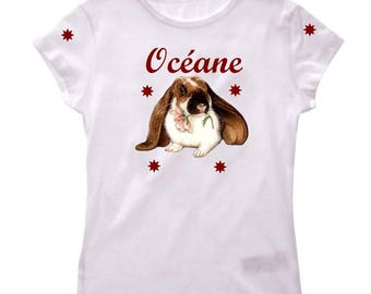 Girl Bunny personalized with name t-shirt