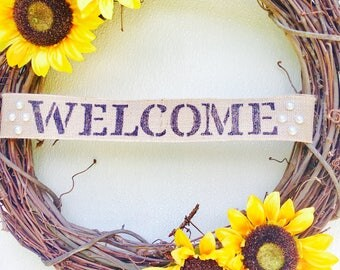 Sunflower welcome wreath