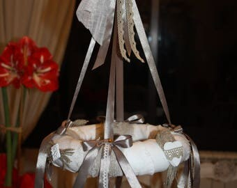 Hanging shabby chic decoration styrofoam wreath