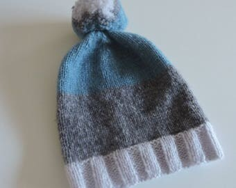 Kids knit hat in wool