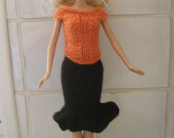 Clothes, Barbie doll, skirt and top